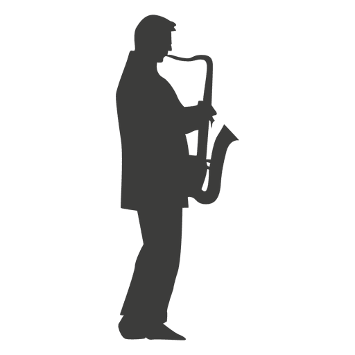 Saxophone musician silhouette Transparent PNG