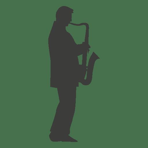 Silhueta de músico de saxofone Transparent PNG
