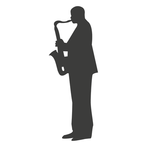 Saxophone musician silhouette 2 Transparent PNG