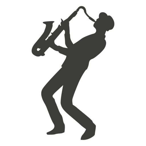 Saxophone player silhouette Transparent PNG