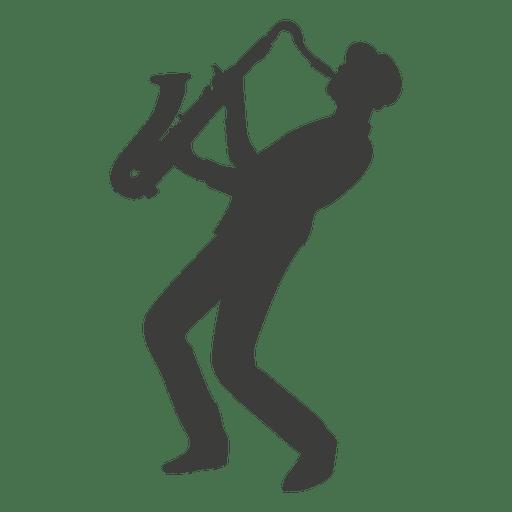 Silueta de saxofonista Transparent PNG
