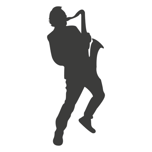 Saxophone player silhouette 2 Transparent PNG