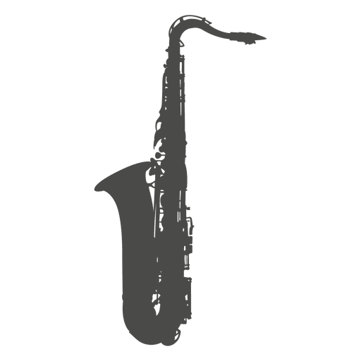 Saxophone silhouette Transparent PNG