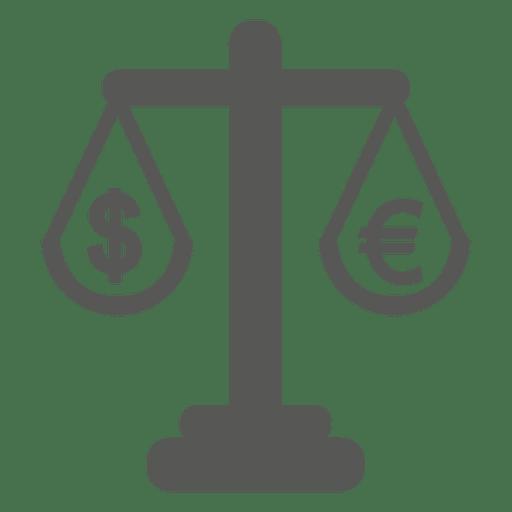 Escala com dólar e euro Transparent PNG