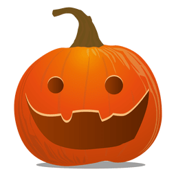 Scary pumpkin emoticon