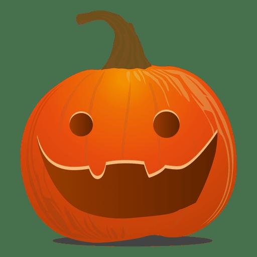 Scary pumpkin emoticon