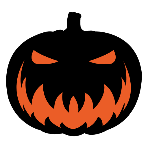 Scary pumpkin face 6 Transparent PNG & SVG vector