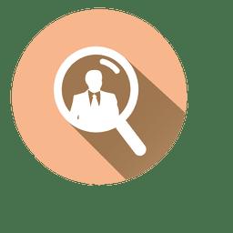 Buscar icono de círculo de empresario