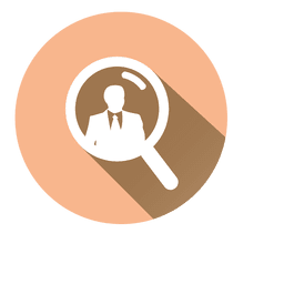 Search businessman circle icon