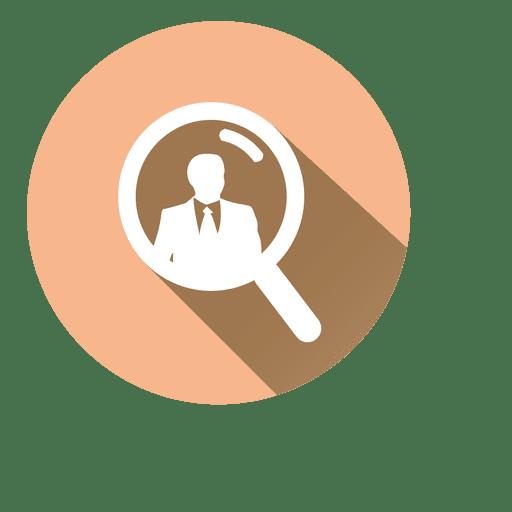 Buscar icono de círculo de empresario Transparent PNG