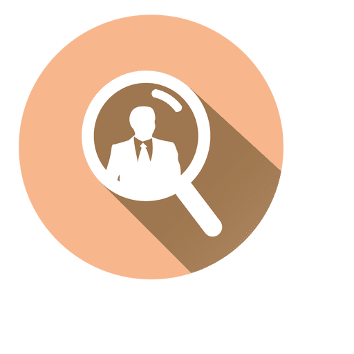 Search businessman circle icon Transparent PNG