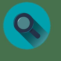Ícone de círculo azul de pesquisa