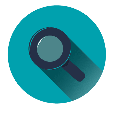 Search blue circle icon Transparent PNG