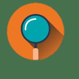Icono de círculo de búsqueda