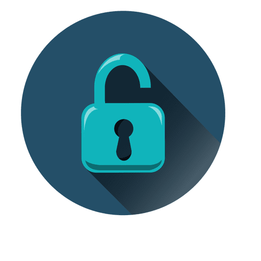 Security circle icon Transparent PNG