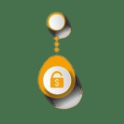 Infográfico elliptial de dinheiro de segurança
