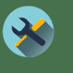 Icono de círculo de configuración