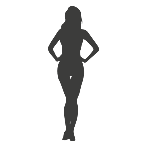 Sexy female silhouette
