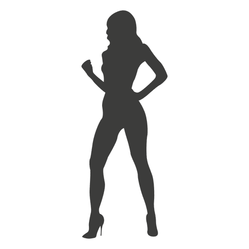 Sexy girl silhouette 2 Transparent PNG