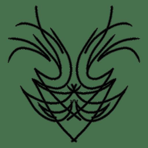 Shield form pinstripe Transparent PNG