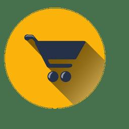 Ícone de círculo de carrinho de compras