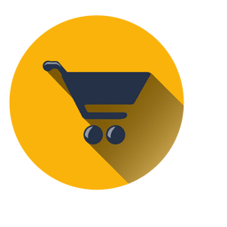 Shopping cart circle icon