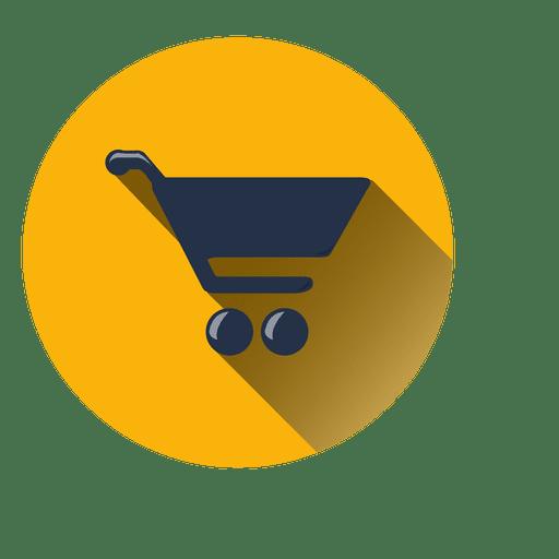 Shopping cart circle icon Transparent PNG