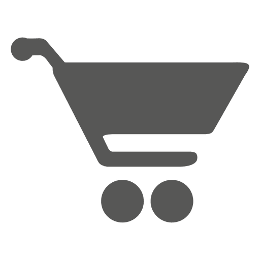 Shopping cart silhouette icon Transparent PNG