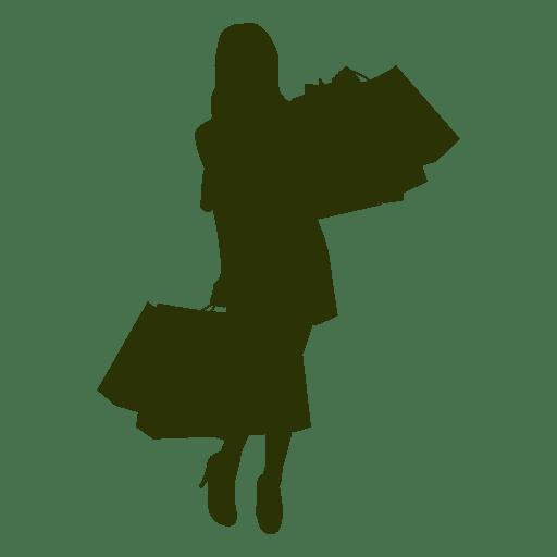 Shopping girl fashion silhouette