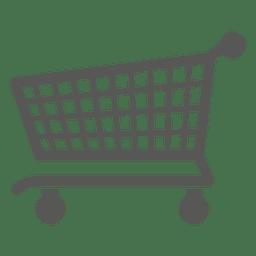 Ícone plana de carrinho de compras
