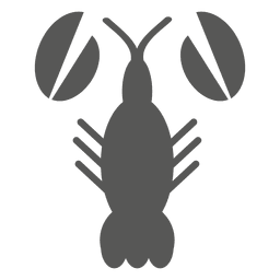 Icono plano de camarón