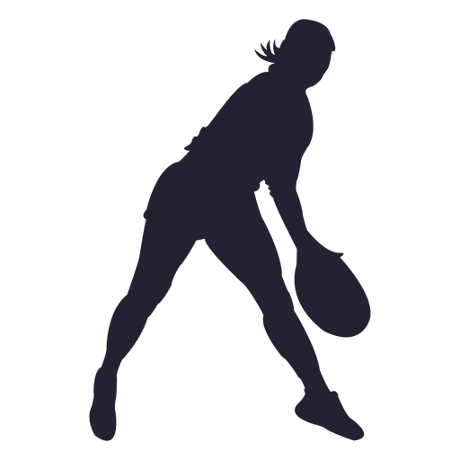 Tennis player silhouette png