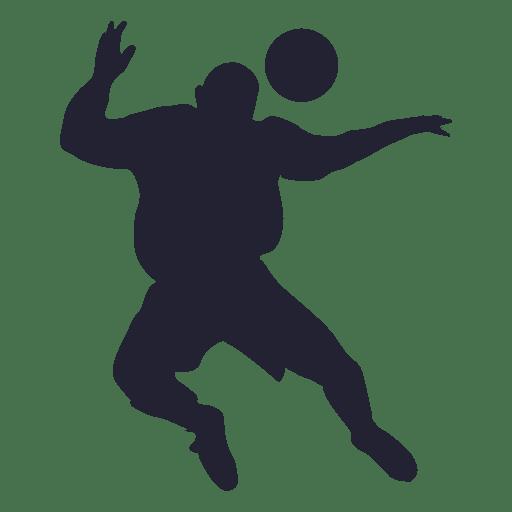 Jugador de futbol silueta Transparent PNG