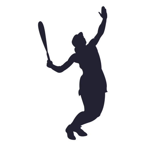Jugador de tenis de mujer de silueta Transparent PNG