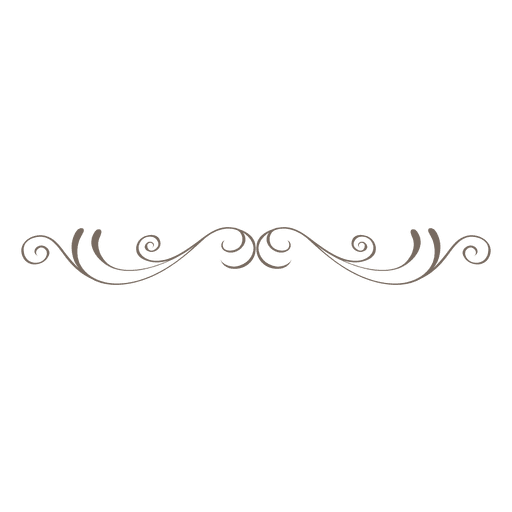 Simple curly lines divider - Transparent PNG & SVG vector