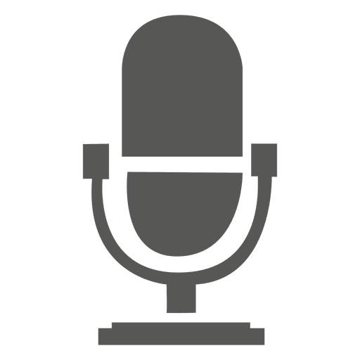 Singing microphone icon
