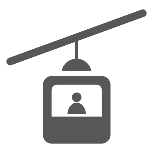 Ícone de carro de cabo único assento Transparent PNG
