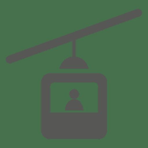 Icono de un solo asiento de teleférico Transparent PNG