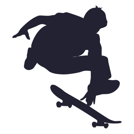Skateboard jumping silhouette Transparent PNG