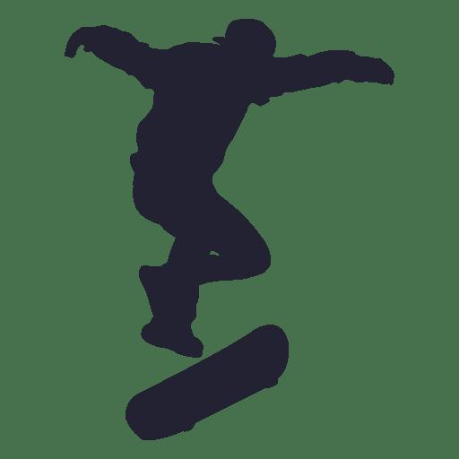 Skateboard performance silhouette