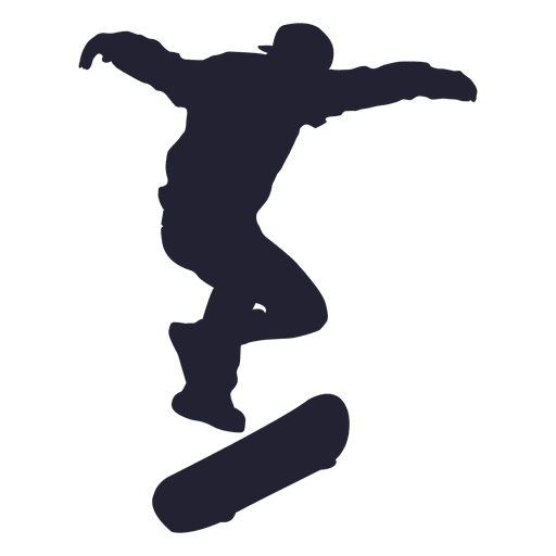 Skateboard silueta de rendimiento