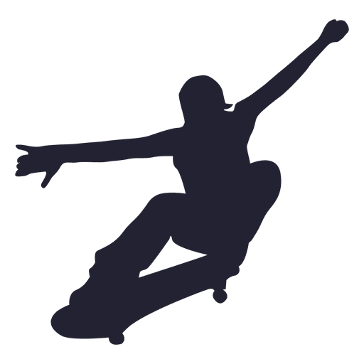 Skateboard player silhouette Transparent PNG
