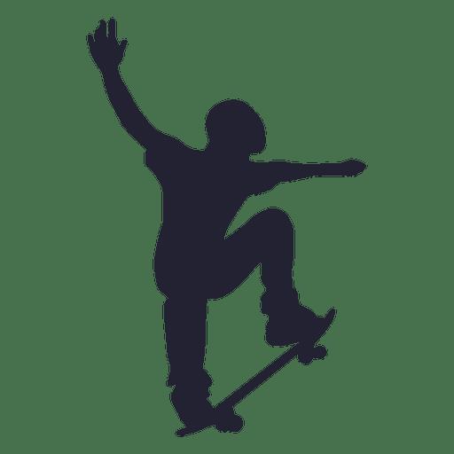 Skateboard sport silhouette Transparent PNG