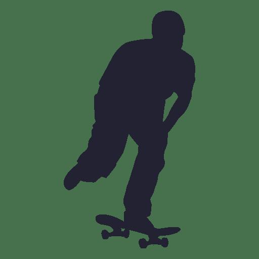 Silhueta de esporte de skate 2 Transparent PNG