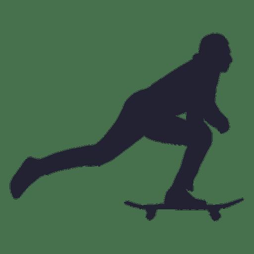 Skateboarding sport silhouette