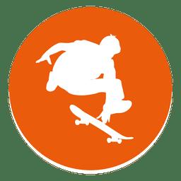 Icono de círculo de patinaje