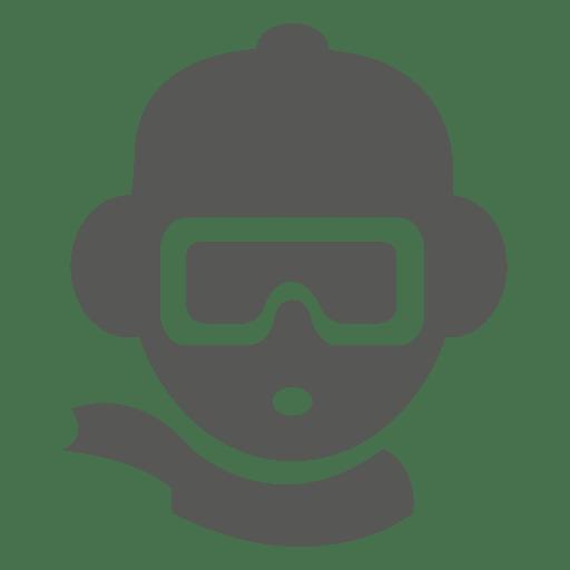 Ski goggle helmet icon Transparent PNG
