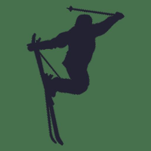 Silueta de deporte de salto de esqu?