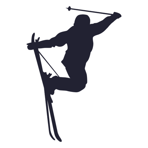 Ski jumping sport silhouette Transparent PNG