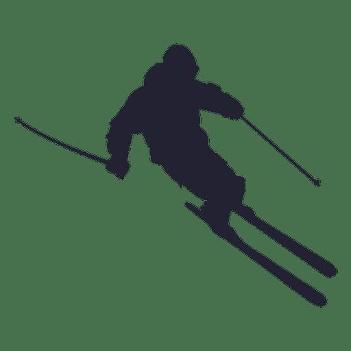 Silueta de esqui
